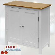 Wooden Storage Cupboard Timber Cabinet 2 Tone Shelf Display Unit Kitchen