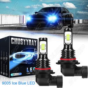 LED Headlight Kit 2 Bulbs 9005 High Beam 8000K for 2015-2020 2021 Dodge Charger