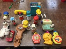 Lot of 17 Peanuts Vintage Avon Kids Bath Toys