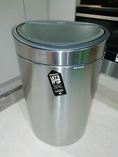 Brabantia Touch Top 40Litre Waste Bin matt Steel dent to one side BNIB