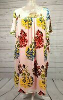 Maeve Anthropologie Chiffon Devore Felt Floral Lined Tunic Smock Dress Size XL