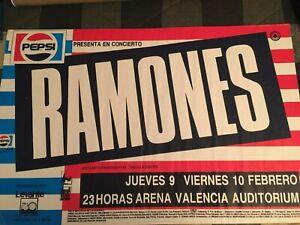 Ramones punk 1988 used tour poster Pepsi Cola rock n roll Joey Ramone