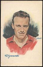 cartolina d'epoca calcio RIGAMONTI  centro mediano