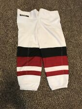 Pro Stock Arizona Coyotes Reebok Edge Hockey Socks Away White (NEW STYLE) LARGE