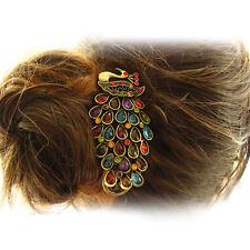 Retro Vintage Temperament Gorgeous Alloy Rhinestone Peacock Hairpin Hair Clip