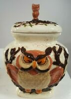 Vintage Owl and Baby Owl Cookie Jar Collectible RARE