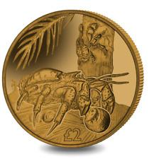 2018 British Indian Ocean Territory Coconut Crab Golden Titanium Coin w/box COA