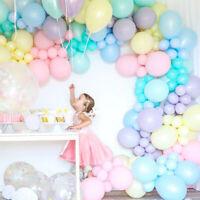 "5"" 10"" Wedding Latex Balloons Pastel Rainbow Arch Birthday Party Ballons 10Pcs"