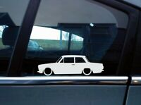 x2 Lowered car silhouette stickers for Ford Cortina Mk1 Super 2-door saloon