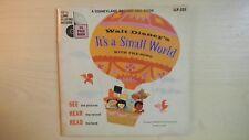 "Disneyland Book & Record Walt Disney's IT'S A SMALL WORLD 7"" 33 1/3rpm 1968"