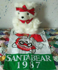 VINTAGE SANTA BEAR 1987 GIRL DAYTON HUDSON CHRISTMAS HOLIDAY WITH BAG