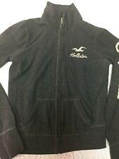 Hollister Juniors Gray M Long Sleeve Full Zip Sweater Jacket - Cotton/Polyester