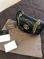 Gucci Marmont Small/ medium Matelasse Bag Black