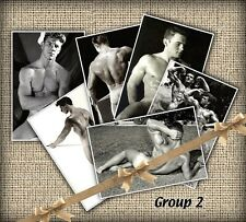 "6 Vintage Nude Bodybuilder Beefcake Prints Gay Interest Reproductions 4"" X 6"" #2"