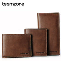 Men's Top Genuine Leather Casual Bifold Wallet Purse Cash Card Holder ID Window