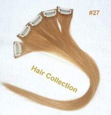 "18""#27 Strawberry Blonde Human Hair Clip-In Extensions for Highlights(5pcs)"