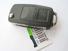 NEW 2 BUTTON FLIP REMOTE KEY FOB, VW T5 TRANSPORTER, 2007 - 2009, POLO, 434Mhz