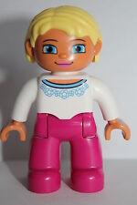 LEGO DUPLO 10546 10587 Figur Mutter / Mama / Frau blonde Haare rosa Hose NEU