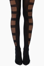 STANCE Bondage Opaque Striped Tights Pantyhose sexy Black S/M