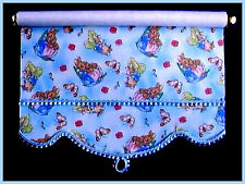 PETER RABBIT ROLLER BLIND / CURTAIN FOR DOLLS HOUSE NURSERY ROOM BY SYLVIA ROSE