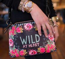 Wild At Heart Gypsy Rose Papaya Art Wander Cross Body Messenger Bag Handbag