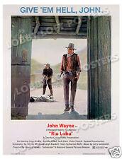 RIO LOBO LOBBY CARD POSTER OS 1970 JOHN WAYNE JORGE RIVERO JENNIFER O'NEILL