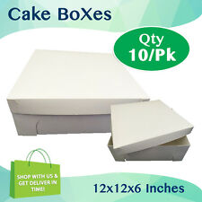 CAKE BOXES 12x12x6 Inches Qty 10/Pack Cake Boards Wedding Cake Box - Cupcake Box