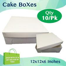 CAKE BOXES 12x12x6 Inches Qty 10/Pack Brand New - Wedding Cake Box - Cupcake Box