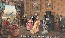1880's Estey Organ Co., Brattleboro, VT Parlor Scene Victorian Trade Card P135