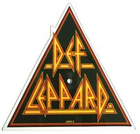 EX/EX Def Leppard Pour Some Sugar On Me Shaped Vinyl Picture Disc
