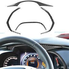 4PCS Carbon Fiber Dashboard Panel Decor Trim For Chevrolet Corvette C7 2014-19