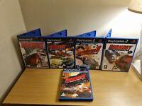 PS2 - BURNOUT GAME BUNDLE - 1,2,3, REVENGE, DOMINATOR - COMPLETE WITH MANUALS