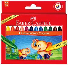 Faber-Castell Jumbo Wax Crayons Pk/12 - Craft Kids Art Craft - Easy To Hold