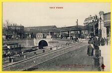 """Belle cpa RARE 75 - PARIS Canal Saint Martin MÉTRO STATION """" ALLEMAGNE """" Animée"""