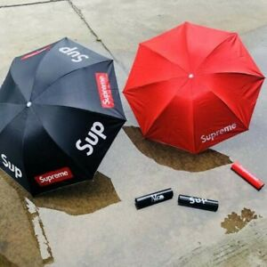 RED SUPREME FULL-AUTOMATIC UMBRELLA FOR SUNNY DAYS AND RAIN-DUAL USE