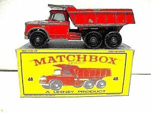 Matchbox Lesney . Dumper truck no 48