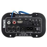 Car Truck  Hi-Fi bluetooth Amplifier Subwoofer Board Audio MP3 TF USB +Remote