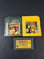 Donkey Kong Country 1 2 Game Boy Color GB GBC Donkey Kong Land 2 GBA Advance Lot