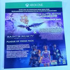 (DLC ADD-ON ONLY) Saints Row IV: Re-Elected & Gat Out of Hell (XBOX ONE) #2120