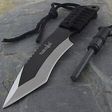 """7"""" FULL TANG TANTO SURVIVAL KNIFE w/ FIRE STARTER Fixed Blade Flint Tactical"""