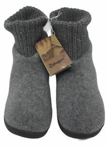 New Zigzagger Women's Bootie Slippers Grey Women's 11