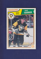 Dave Hannan RC 1983-84 O-PEE-CHEE Hockey #281 (NM) Pittsburgh Penguins
