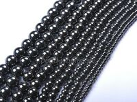 Wholesale4MM 6MM 8MM 10MM 12MM Ball Black Magnetic Hematite Spacer Charms Beads