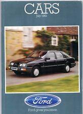 Ford Cars July 1983 UK Market Sales Brochure Fiesta Escort Sierra Capri Granada