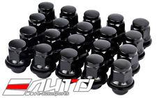 20pc MAG 37mm Black Lug Nut 12x1.5 M12 P1.5 21HEX For Mitsubishi OEM Wheel