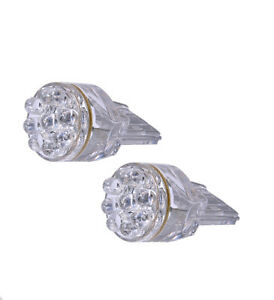 x2 T20 7440 15 LED SMDs Color: White Fit Rear Turn Signal Light Bulbs Lamp F704