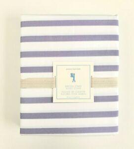 POTTERY BARN KIDS breton Stripe Duvet cover only size Twin lavender