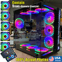 Robin III Gaming Computer PC Case, ATX Mid Tower, Glass,Transparent SideW/5-FANS
