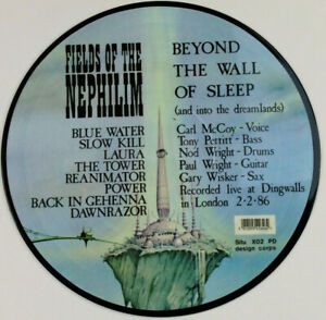 Fields Of The Nephilim - Beyond The Wall Of Sleep - live LP vinyl PICTURE DISC