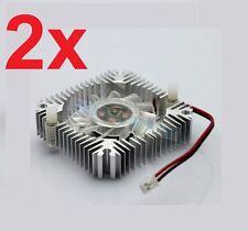 2 PCS 55mm 2PIN Aluminum Snowhite Cooling Fan Heatsink Cooler  VGA CPU FS006 B7